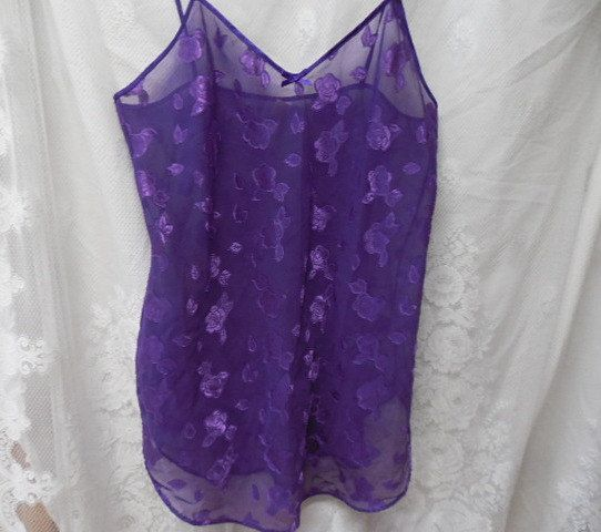 Purple Sheer Lingerie Purple Camisole Top See Through Lingerie Sheer Lace Sexy…