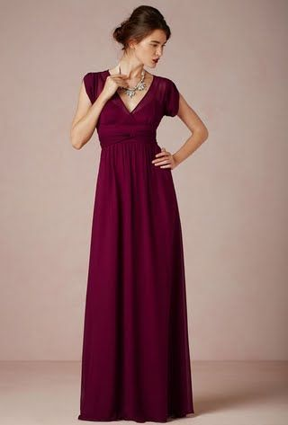 Bridesmaid Dresses with Cap Sleeves- Short Sleeves and Long ...