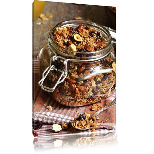 East Urban Home Honey Muesli In A Jar Photographic Art Print On Canvas Real Food Recipes Convenience Food Food