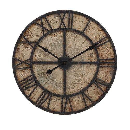 "Found it at Wayfair - Oversized 31.5"" Bryan Map Wall Clock"