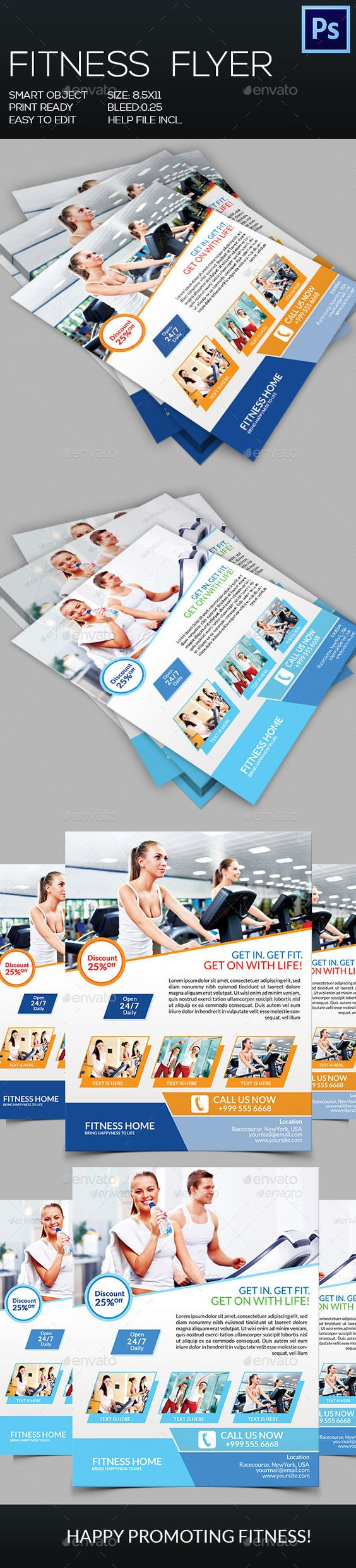 Fitness Flyer Template PSD | Buy and Download: http://graphicriver.net/item/fitness-flyer/8953439?WT.ac=category_thumb&WT.z_author=GreenPixi&ref=ksioks