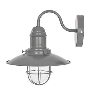Bamburgh Charcoal Outdoor Wall Light