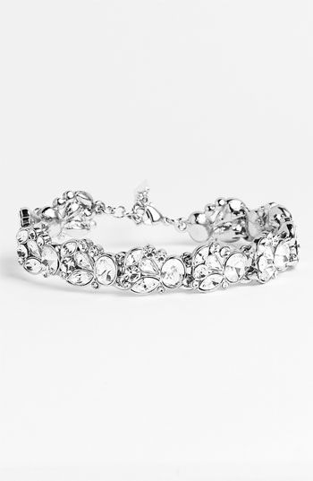 Nina 'Lucita' Crystal Floral Bracelet available at #Nordstrom