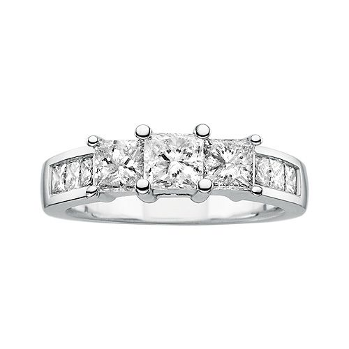 2 ct tw diamond engagement ring in 14k white gold fred. Black Bedroom Furniture Sets. Home Design Ideas