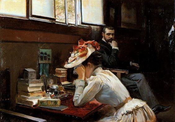 Lune de miel - Cecilio Pla y Gallardo (1860-1934)
