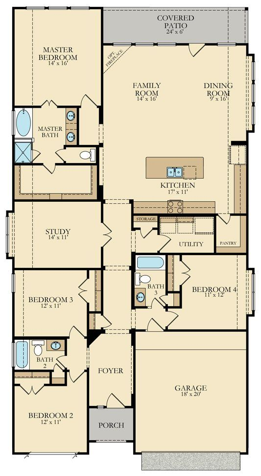 Russo New Home Plan In Miramesa Brookstone Collection By Lennar House Plans New House Plans Floor Plans