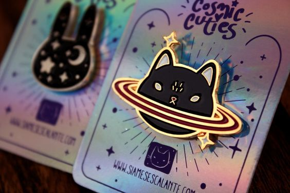 Image of Caturn Enamel Pin
