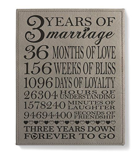 Third wedding anniversary gift for wife