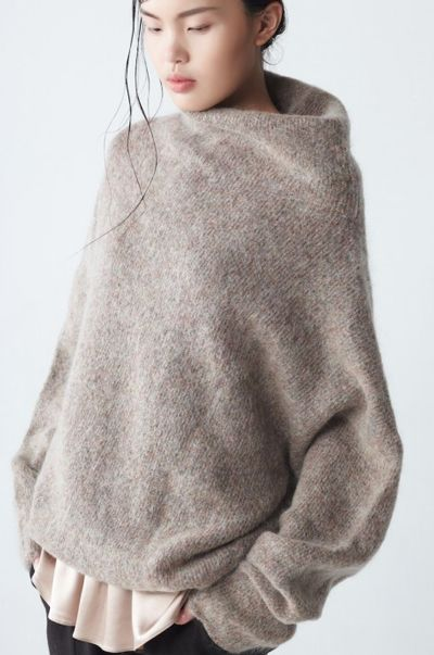 Fashion details- Extra soft mohair sweater with high collar and long sleeves by Neemic.: