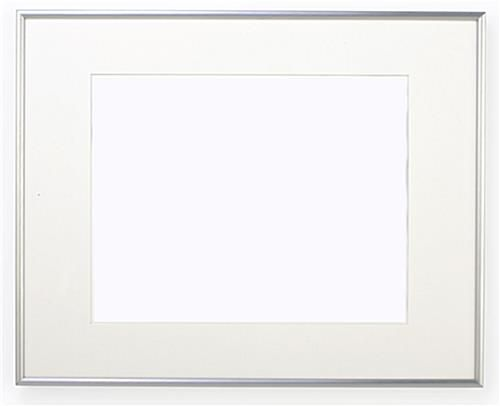 16 X 20 Poster Frame For Wall Matted To 11 X 14 White Mat 3 8 Profile Silver Silver Picture Frames Poster Frame White Picture Frames