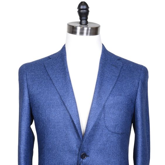 $549.00 80% wool, 20% silk, woven in Italy. Gorgeous cloth with a lux texture in an attractive shade of blue, brighter than navy. A great alternative to a tradi...