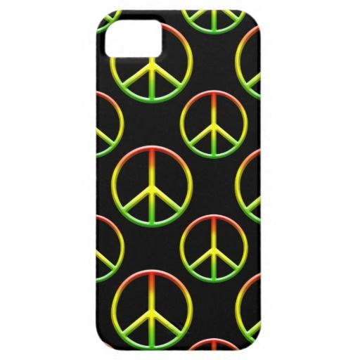 Rasta Peace Sign Pattern iPhone 5 Covers
