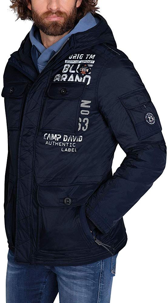 Camp David Herren Kurzparka Mit Kapuze Und Back Artwork Amazon De Bekleidung Mens Jackets Casual Mens Jackets Jackets