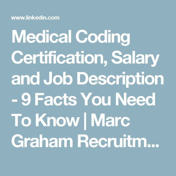ICD-10 salary ICD 10 Coding Pinterest Icd 10, Medical coder - medical records job description