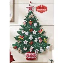 Árbol de Navidad nórdica Bucilla Calendario de Adviento