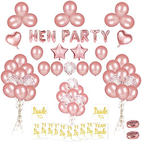 Phogary 68 Pcs Happy Birthday Party Balloons Decoration Pre-Filled Confetti Balloons Latex Balloons And Birthday Princess Sash for Women Girls Birthday Party Rose Gold Happy Birthday Balloon Banner