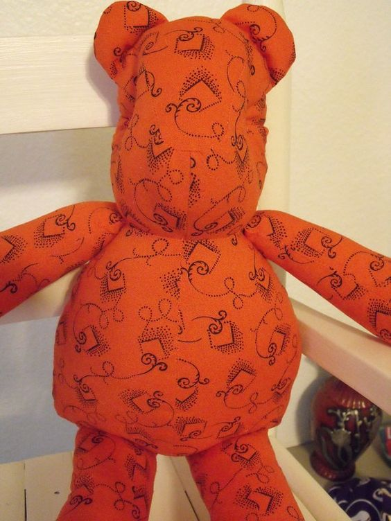 Orange Swirly Bear by RADBears on Etsy, $14.95