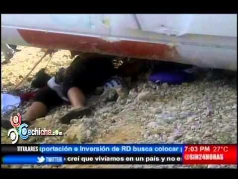 Choque entre autobus y camión deja al menos 3 muertos y 20 heridos en Autovía del Coral #Video - Cachicha.com