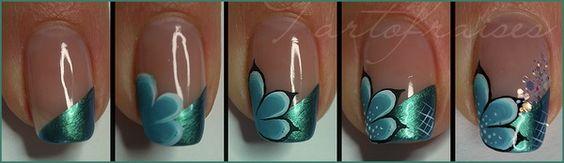 Aqua nail   Nail-art