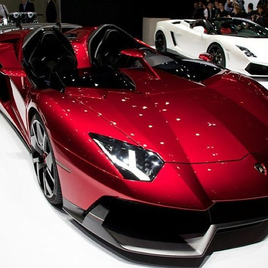 The New Lamborghini Aventador J Luxury Sports Cars Http - Red sports car