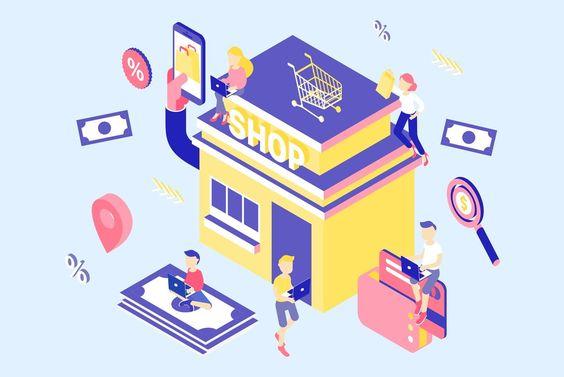 E-Commerce Isometric Concept