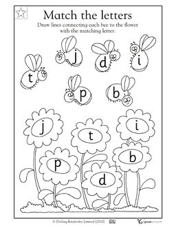 Printables Alphabet Worksheets For Pre-k pinterest the worlds catalog of ideas alphabet worksheets for preschoolers matching letters bees activities greatschools