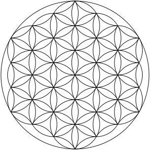 Fleur de Vie — On considère la Fleur de Vie comme un symbole de géométrie sacrée