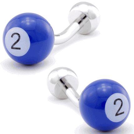 """""""2"""" Billiards Ball Cufflinks, Round Cufflinks from Cufflinksman"""