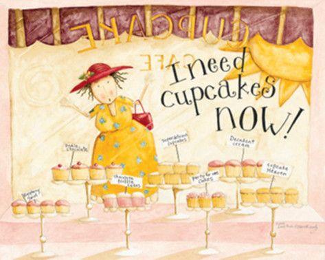 I Need Cupcakes Kunstdrucke von Dan Dipaolo - AllPosters.at