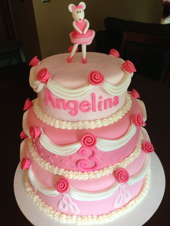 Angelina Ballerina Birthday Cake  Birthday Cakes  Pinterest ...