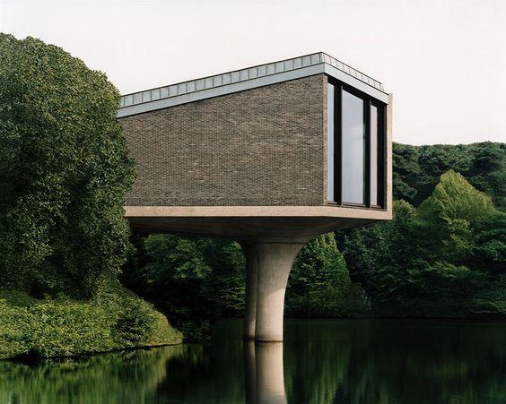 Non-traditional lake house