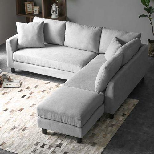 Velvet L Shape Sofa Cover In 2020 L Shaped Sofa L Shaped Sofa Designs Modern Sofa Living Room