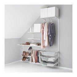 ALGOT Wandschiene/Böden/Hosenaufhängung, weiß - IKEA