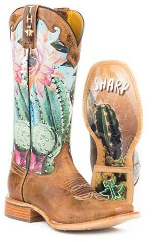 OMG Tin Haul Cactilicious Boots With Looking Sharp Sole Urban Western Wear
