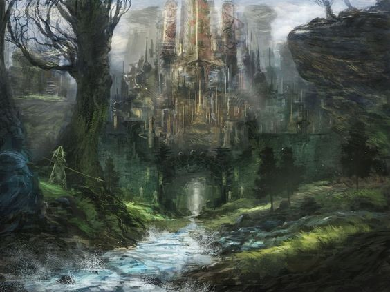 Elven Kingdom - City Gates by Dojobird6