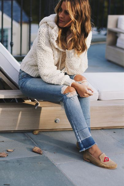 cozy sweater + sweet loafers