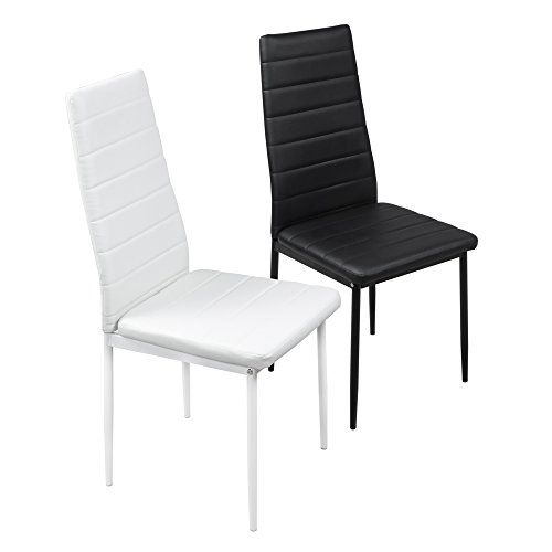 Fayean Dining Kitchen Chair High Back Foam Padded Seat Steel Frame