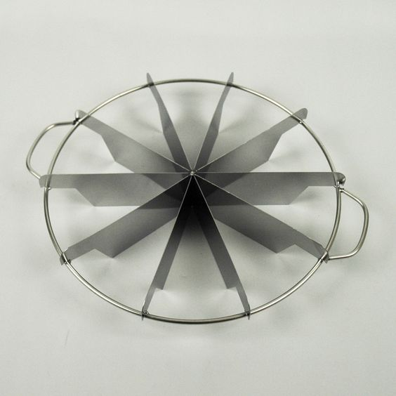 "10 Cut Pie Cutter - 10-Cut pie cutter is an exact and efficient way to portion out pies, cakes, cheesecakes and tarts. - Diameter 10 Inches. - 2"" high blades. - The pie marker features 2-inch high arm"