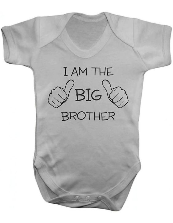 I Am The Big Brother Baby One Piece   Baby by MargaridaWorkshop