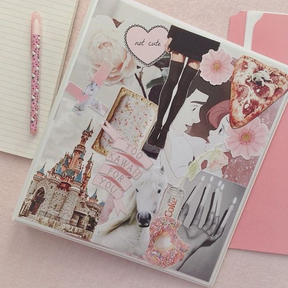 Book Cover Collage Zip ~ High school style binder collage diy pinterest