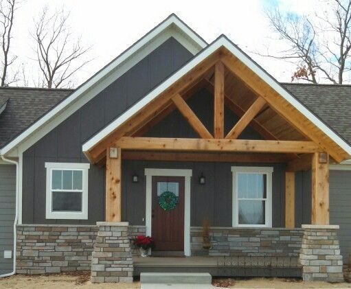 More Ideas Below Exterior Board And Batten Siding Diy Board And Batten Siding With Brick Farmhouse Board Porch Remodel House With Porch Exterior House Colors