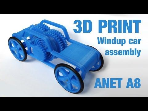 3d Print Windup Motor Car Toy Assembly Youtube Impression 3d