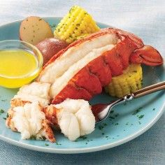 lobster ~ one of my VERY FAVORITE things in the world....lobster tail!  Even better when served w/ a small steak :)
