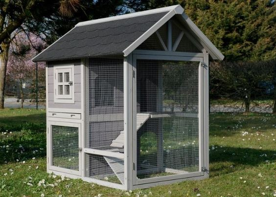 Maisonnette house animals pour chat lapin cochon d 39 inde for Cage a lapin exterieur