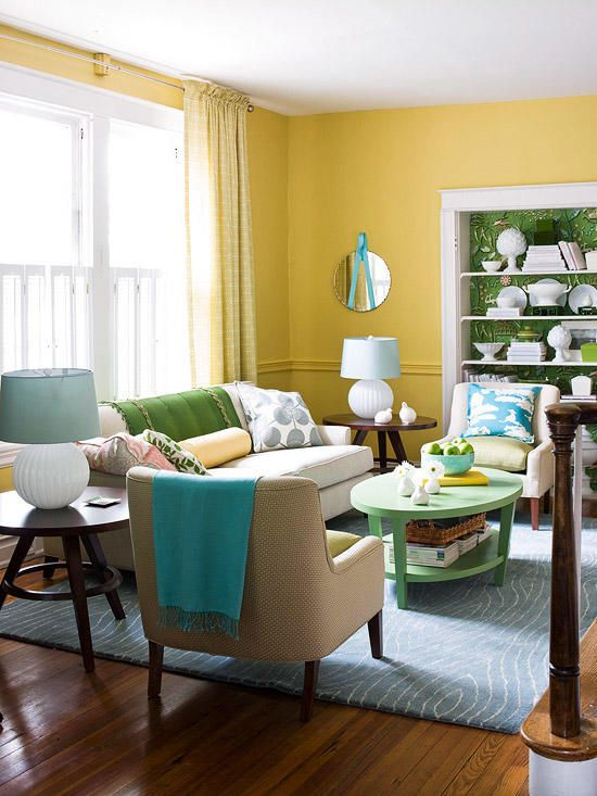 I Need These Floral Prints Yellow Walls Living Room Yellow Living Room Living Room Color
