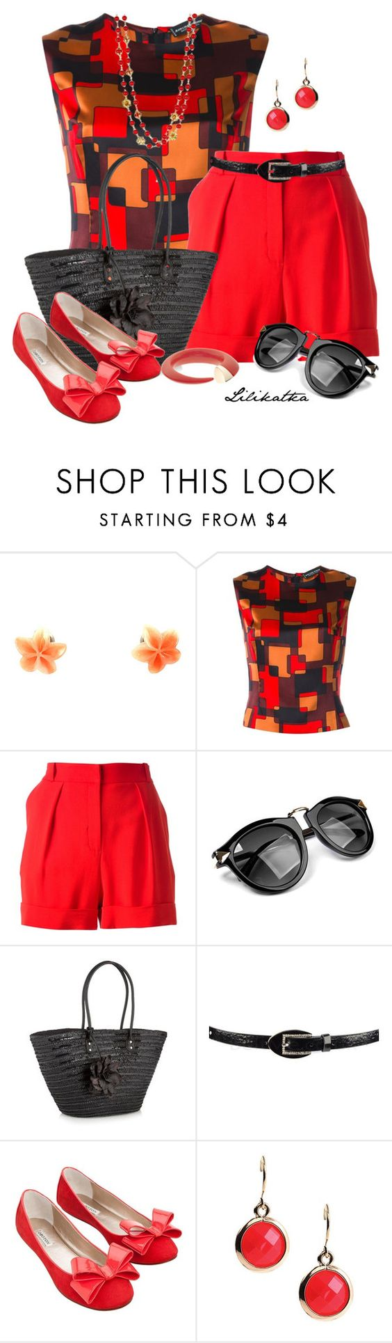 """""""Pivonka#1371/7"""" by lilikatka ❤ liked on Polyvore featuring Jean-Louis Scherrer, Lala Berlin, Beach Collection, Oroton, Anne Klein, Zooey and Shaun Leane"""