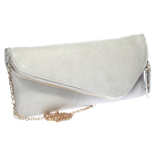 Urban Expressions Vegan Leather Hanna Clutch (Grey)