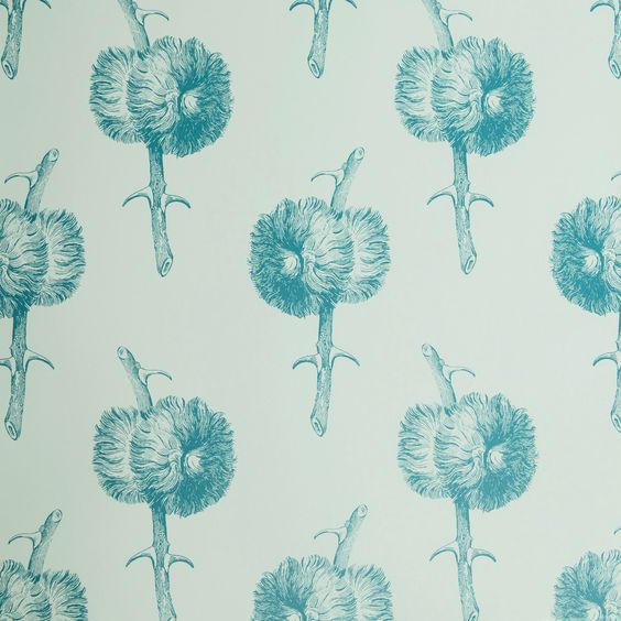 Miso in Blue Lagoon | Abnormals Anonymous #wallpaper #floral #blue