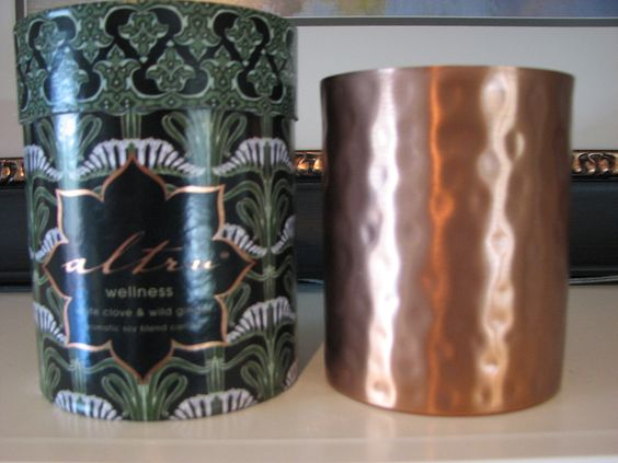 "Altru ""Wellness"" Candle White Clove & Wild Ginger: Candlesandmore Bonanza, Clove Wild, Beautiful Copper, Fragrance And Candles, Candlesandmore Teamsellit, Altru Wellness, Online Network"