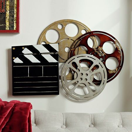 Theater Room Metal Plaque | Kirklands